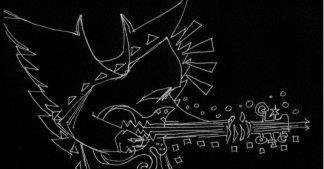 brett playing guitar wings sketch